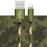 Un câble de caractéristiques plus rapide du camouflage 2A USB pour l'iPhone 6/7/7 positif