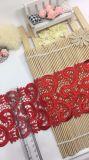 Cordón de nylon del poliester del nuevo del diseño el 11cm de la anchura recorte del bordado para la ropa y materias textiles y cortinas caseras