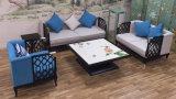 Sofá de madeira da tela da mobília viva moderna do restaurante do hotel