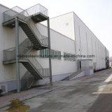 Edificio de dos pisos de la estructura de acero para el almacén de acero