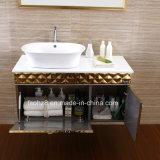 Vanità brillante dorata 083 della stanza da bagno dell'acciaio inossidabile di stile indiano