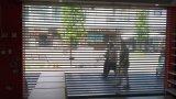 El rodillo curvado cortina transparente eléctrica comercial del PVC del policarbonato del panel Shutters la puerta (Hz-PRS04)