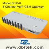 8つのSIMのカードポートのVoIP GSMのゲートウェイが付いているGSMのゲートウェイGoIP-8