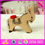 Neues Baby-hölzernes Esel-Spielzeug W01b028 des Entwurfs-2016