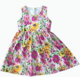 형식 메시 아이들을%s 소매 없는 꽃 Gril 복장은 입는다 (SQD-106)