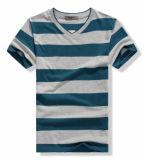 T-shirt rond d'homme de collet de pistes bon marché