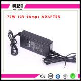 12V 6A 72W HOOFDBestuurder, DC12V 72W van de LEIDENE van de Adapter 72W 6AMPS de Adapter Levering van de Macht AC/DC