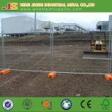 Гальванизированная временно загородка при пластичное основание сделанное в Китае