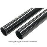 Tubo de alta resistencia de la fibra del carbón con la superficie brillante
