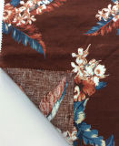 Tela impresa flor del lino del 100% para las materias textiles del hogar de la ropa