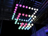 LED 단계 구체 35cm를 가진 드는 빛 300 윈치 공