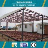 Edificio ligero prefabricado del almacén del metal del marco de acero