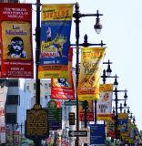 Bandiera parteggiata doppia superiore della bandierina di pubblicità esterna