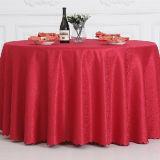 Gaststätte-Leinen-Polyester-runder Tisch-Tuch/Tisch-Deckel