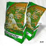 Bolso del acondicionamiento de los alimentos de animal doméstico con los escudetes laterales