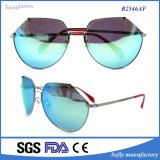 女性の高品質のFshionによって分極される金属のサングラス