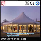 Tenda del Pagoda di esagono della parete di vetro per Weding e l'evento
