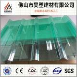 Hoja plástica del material para techos de la hoja acanalada del policarbonato de Bayer 2m m