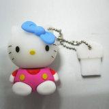 高品質PVC Promotional 3D Plastic USB Key (USB-054)
