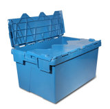 Het duurzame gemakkelijk-zichBeweegt Plastic Krat van de Opslag met Deksel In bijlage (PK6040)