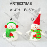 """16 """" H che si levano in piedi la decorazione del pupazzo di neve Elf-3asst-Christmas della Santa"""