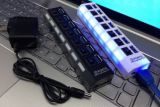 USB 섬광 드라이브 고속 7 운반 USB 허브 3.0