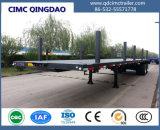 50t Flatbed Aanhangwagen van de Vrachtwagen met de Enige Opschorting van Boggie van het Punt