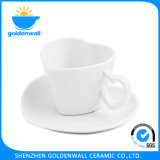 '' Taza de té blanca de la porcelana 150ml/4.75 modificado para requisitos particulares