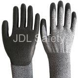 Anti-Couper le gant de travail de sûreté avec l'unité centrale enduite (PD8024)