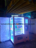 Atractiva máquina expendedora de pantalla con lector de notas y cambiador de monedas
