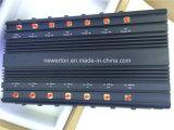 Un'emittente di disturbo delle 14 fasce per il cellulare di GSM/3G/4G, GPS, WiFi, Lojack, 433MHz, emittente di disturbo del segnale 315MHz; Emittente di disturbo/stampo del segnale dell'antenna dei ventilatori 14 di Built-in 5