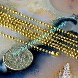 Роскошное золото покрыло цепь ожерелья ювелирных изделий шарика металла 3.2mm