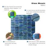 Azulejos de mosaico de cristal de construcción del material de elevación del equipo de la frontera verde de la chimenea