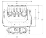 極度の小型19*15W LEDの段階の移動ヘッド洗浄ズームレンズ