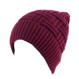 Le Double couche unisexe des femmes de Mens a contrôlé le chapeau de patinage de ski de Beanies tricoté parhiver chaud de chapeaux (HW410)