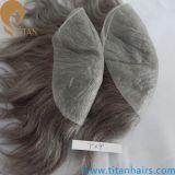 安い価格のインドのRemyの人間の毛髪の在庫のToupees