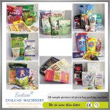 Paprika-Puder, Gelbwurz-Puder und Verpackungsmaschine mit Stangenbohrer-Einfüllstutzen