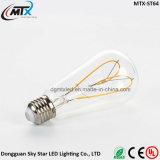 E27 E26 3W ST64 필라멘트 램프 LED Edison 포도 수확 전구