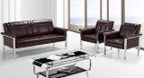 Sofà moderno popolare del cuoio dell'ufficio progetti di alta qualità con l'ammortizzatore 1+1+3 del doppio del blocco per grafici del metallo in azione