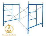 El andamio de la escala enmarca un andamio del marco, andamio del marco de H