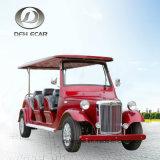 8 Seatersのセリウム公認の電気観光車新しいエネルギーカートの低速手段のゴルフカート