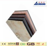 Poliester que cubre el panel compuesto de aluminio de madera de la decoración de la pared interior