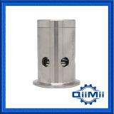 Válvula de descarga fija embridada sanitaria del vacío de la presión del acero inoxidable