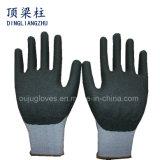 泡のニトリルが付いている15のゲージのスパンデックスの安全作業手袋は塗った
