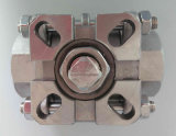 robinet à tournant sphérique fileté par TNP de femelle d'acier inoxydable de traitement du bâti 3PC