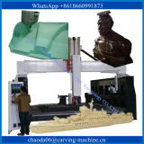 router de madeira de madeira de madeira do CNC do router 3D Carver 4-Axis do CNC da espuma da máquina 4axis 3D da arte 3D