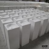 Lavabo diritto bianco di superficie solido del basamento del pavimento