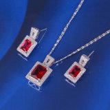 A jóia quadrada luxuosa da forma de Xuping com ródio chapeou (61102)