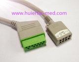 Nihon Kohden Snap&Klipp 3&5 Kabel des Kabel-ECG