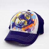 Gorra de béisbol de la tela cruzada del algodón de los cabritos con la impresión y perlas